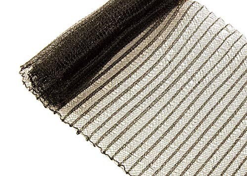 Pleated Crinoline Horsehair Braid for Millinery 6 (16 cm) Wide - Black - Sold by The Yard