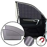 Lechin Parasole per finestrino laterale dell'auto (2X) - Tendine parasole per auto per bambino - finestra laterale anteriore - Vestibilità universale