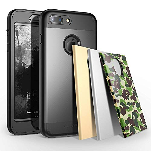 TOTU iPhone 7 Plus Case Water Resistant Shock Absorbing Falling Preventing Protective Case Best Heavy Duty 4 Interchangeable Covers for Apple iPhone 7 Plus 55 inch