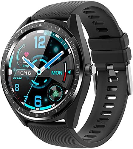 X&Z-XAOY Bluetooth Redondo SmartWatch con Notificaciones De Mensajes Pulsera Inteligente Player Fitness Impermeable IP68 Ritmo Cardíaco Deportes Pulsera Reloj