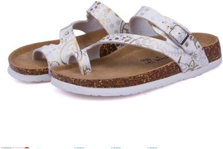 Btrada Women Summer Beach Cork Slipper Flats Flip Flops Sandals Ladies Mixed color Casual Slides shoes