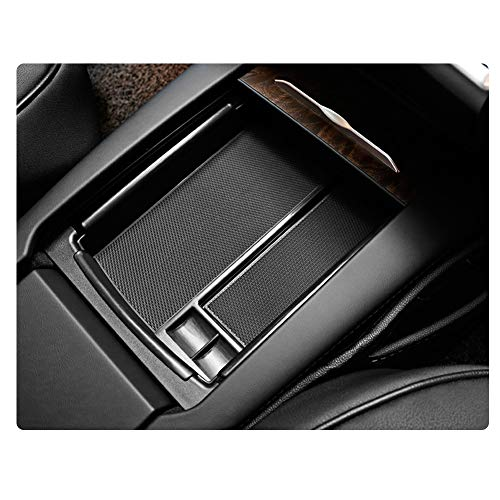 YEE PIN Model S X Center Console Organizer Tray Armrest Tray Armrest Box Secondary Storage Insert ABS Materials Tray Compatible with Tesla Model S X (Black)