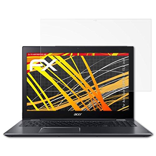 atFolix Schutzfolie kompatibel mit Acer Spin 5 SP515-51 15,6 inch Bildschirmschutzfolie, HD-Entspiegelung FX Folie (2X)