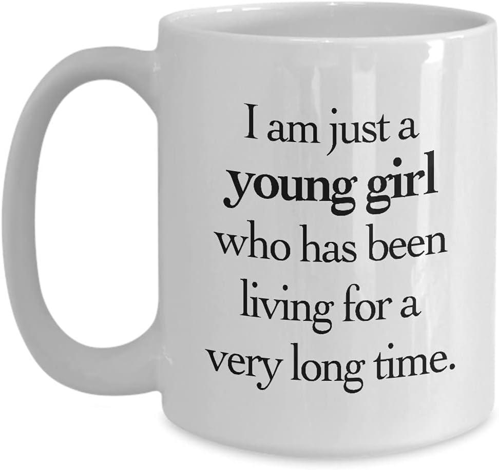 Regalos para mujeres mayores - Regalos para la mujer mayor - Regalos para 40 50 60 70 80 años de edad - Taza de café para mamá, abuela, abuela - Copa de cerámica