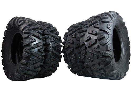 FOUR 26x9-12 26x11-12 KT MASSFX big TIRE SET FOUR ATV TIRES SIX PLY 26' horn