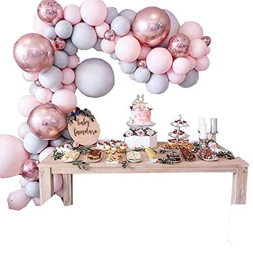 XJF 169 piezas globo arco guirnalda kit boda baby shower fiesta cumpleaños decoración