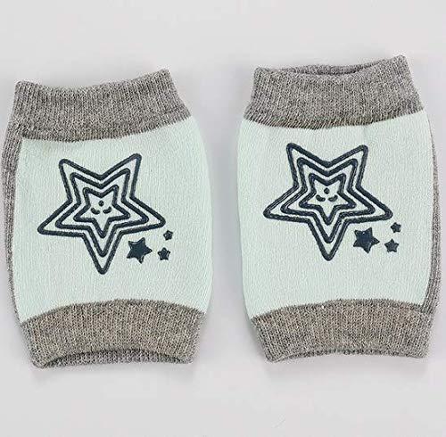 CHIRORO Baby Knieschützer Anti-rutsch Gestrickt Krabbeln Knieschoner für Baby Mädchen oder Jung Krabbelschoner Krabbelhilfe Knieschützer,hellgrün