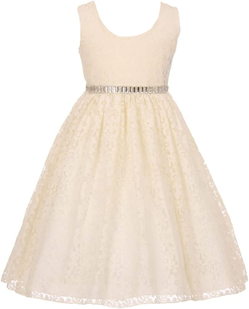 iGirlDress Little Girls Floral Lace Flowers Girls Dresses sizes2-12