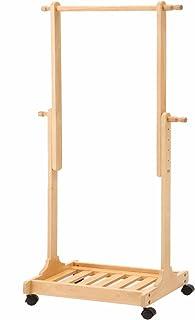 市場ハンガー 木製 伸張式ハンガー 132~150cm ナチュラル H-2263NA