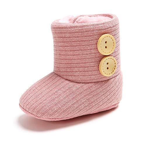 Geagodelia Baby Mädchen Stiefel Lauflernschuhe FX-12239 (17-18, Pink 02), Pink 02, Gr.- 17-18 EU/ Etikettengröße- 1