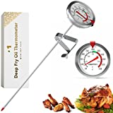 Deep Fry Thermometer With Pot Clip 8' - Instant Read Food Thermometer   Oven Thermometers   Mechanical Meat Thermometer For Grilling   Candle Making Thermometer   Baking Thermometer, Candy Thermometer