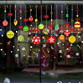 Christmas Decorations Hanging Balls Shinning Stars Snowflakes and Angels for Home Shop Window Coverings Decor Wall Decals Stickers Holiday Celebration Presents