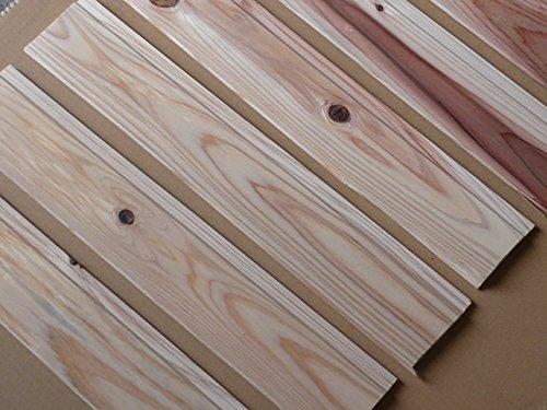 【ノーブランド品】九州産天然無垢 杉羽目板 端材箱詰め 40枚入