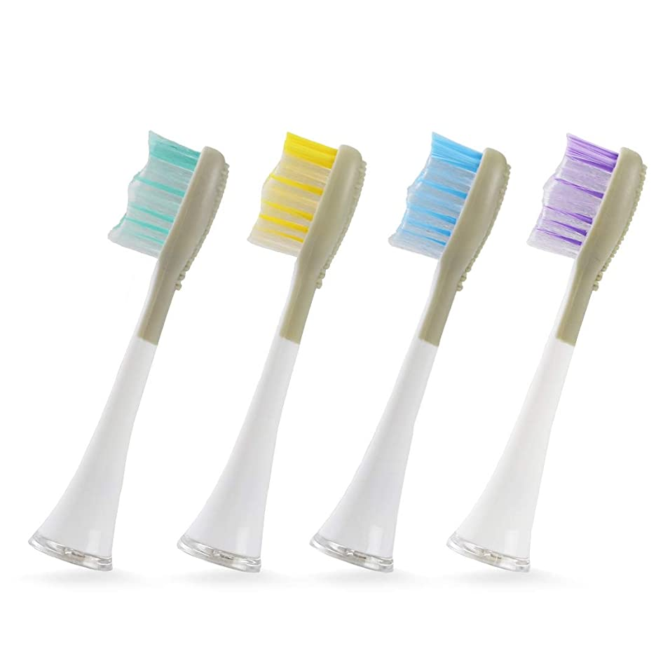 大洪水検閲可動式クルラ(Qurra) 電動歯ブラシ 音波式 Basic 替えブラシ 4個セット 舌クリーナー 付
