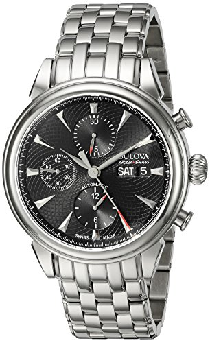 Bulova Men's 'Gemini' Swiss Automatic Stainless Steel Casual...