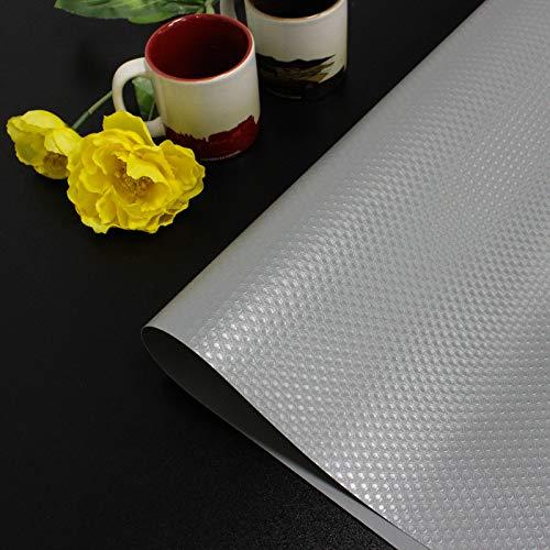 Homease Tapis de tiroir antidérapant et imperméable - Pour tiroirs, étagères, réfrigérateurs, grands formats, peut être découpé à volonté - Gris - 60 x 200 cm
