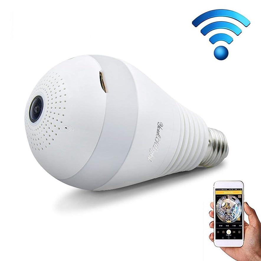 挨拶知性メールを書くYMF E27 3W 1080P LED電球形状のWi - Fi IPカメラワイヤレスHDホームセキュリティパノラマ360度光センシング電球