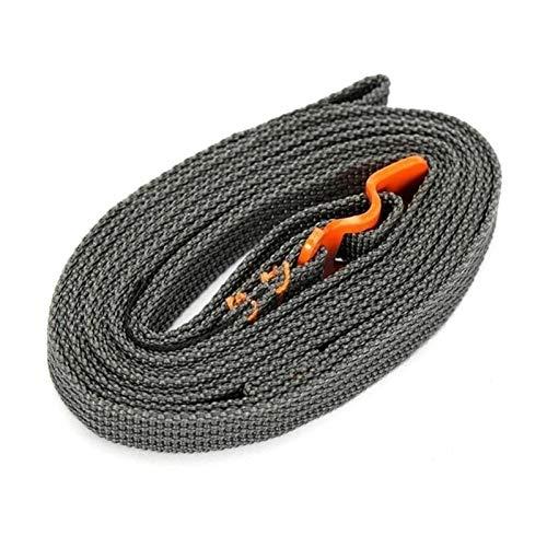 Dhmm123 Cuerdas de Remolque 2.0m al Aire Libre de Correa de cordón de cordón de cordón de cordón de cordón Atado Tirar con Equipaje Gancho de Acero Inoxidable