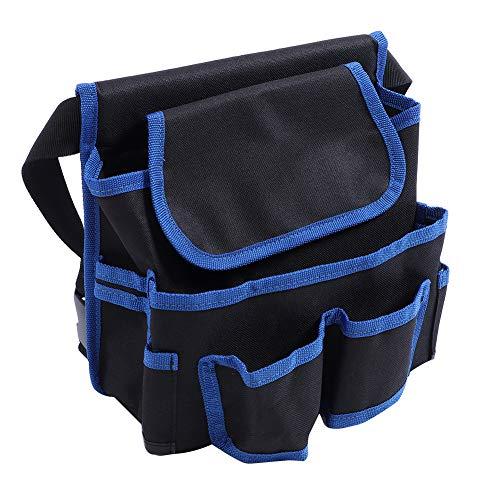 24x23cm multifunctionele zakken Gereedschapsdrager voor elektrisch en onderhoud Tuinberging Heuptas Elektricien gereedschapscontainer(Blauw)