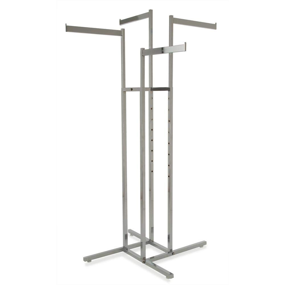 Clothing Rack Popular standard – Chrome 4 Way At the price Arms Height Adjustable Blade