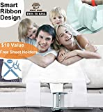 Komfy Home Bed Bridge Twin to King Converter Kit- Split King Bed Gap Filler Adjustable Strap Mattress Connector for Twin & Twin XL Beds- Storage Bag & 4 Sheet Holders Included- for Guests Stayovers