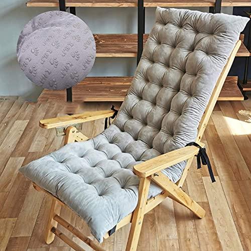 Cojín de columpio al aire libre para interior con respaldo alto, cojín para silla mecedora para patio, cojín grueso para tumbona, impermeable, 125 x 50 x 10 cm