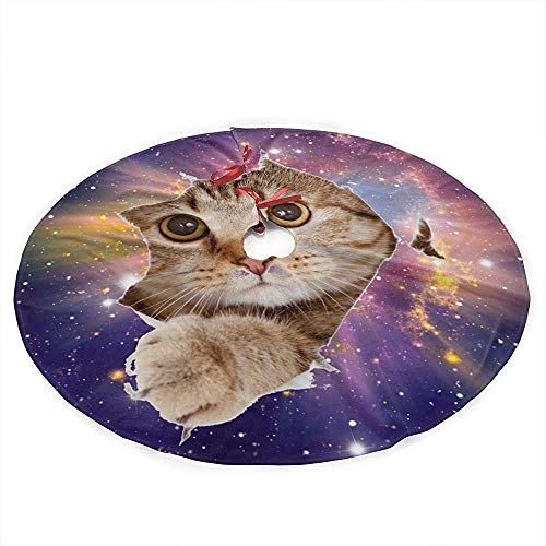 Winter-South Galaxie Space Cat kerstboom rok mat decoratie kerstfeest tafeldecoratie Kerstmis