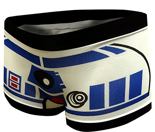 Disney Women's Classic Star Wars R2 D2 Boyshort Panty (Small)