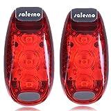 Salerno(サレルノ) LEDクリップライト 日本語説明書付き レッド2個セット