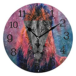 Ernest Congreve Wall Clock Natural Coffee BeansSilent Non Ticking Decorative Square Digital Clocks Quartz Battery Operated Square Easy to Read for Home/Office/School Clock 10 inch