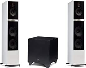 "Martin Logan Motion 60XTi Floorstanding Speakers Matte White Pair and Dynamo 600X Powered 10"" Subwoofer Bundle"