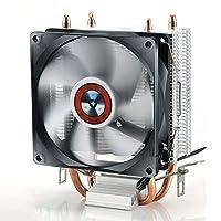 超静音耐久性アルミニウムPCCPUクーラー冷却ファンサイレント冷却ファンコンピューター用CPUクーラーヒートシンク