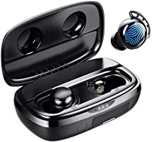 Wireless Earbuds, Tribit 100H Playtime Bluetooth 5.0 IPX8 Waterproof Touch Control Ture Wireless Bluetooth Earbuds with...