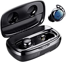 Wireless Earbuds, Tribit 100H Playtime Bluetooth 5.0 IPX8 Waterproof Touch Control True Wireless Bluetooth Earbuds with Mic Earphones in-Ear Deep Bass Built-in Mic Bluetooth Headphones, FlyBuds 3