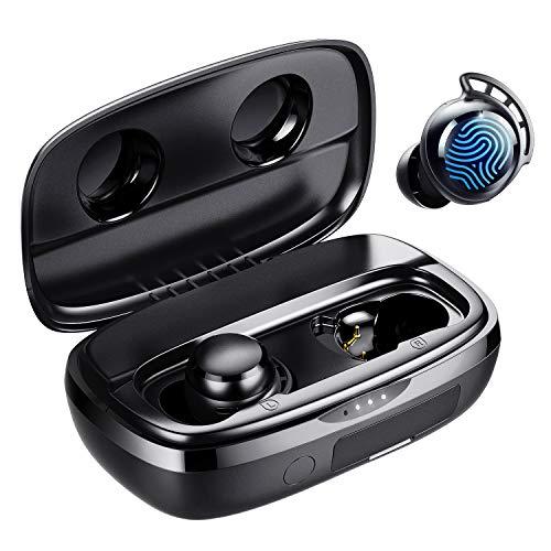Draadloze oordopjes, Tribit 100H Speeltijd Bluetooth 5.0 IPX8 Waterdicht Aanraakbediening Ture Draadloze Bluetooth…