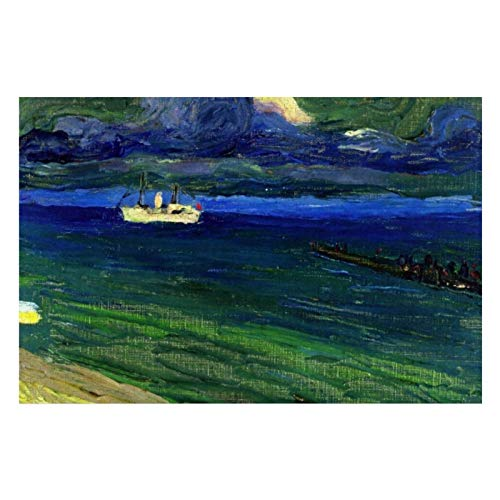 Kandinsky Seascape with Steamer Puzzles for Adults, 1000 Piece Kids Jigsaw Puzzles Game Toys Gift for Children Boys and Girls, 20