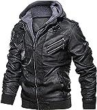 chaquetas de moto para hombre Chaqueta bomber de imitación delgada de la motocicleta delgada de la motocicleta delgada de los hombres del otoño del invierno del invierno de la cremallera de la cremall