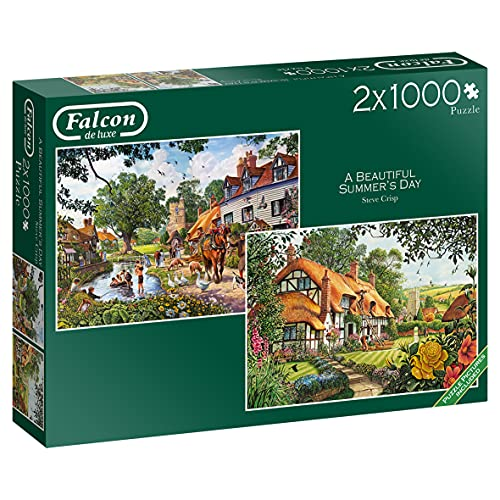 Jumbo, Falcon de luxe - A Beautiful Summer's Day, Jigsaw Puzzles for Adults, 2 x 1,000 piece