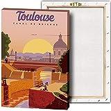 Vintage-Reise-Poster Toulouse Kunst-Poster und Drucke,