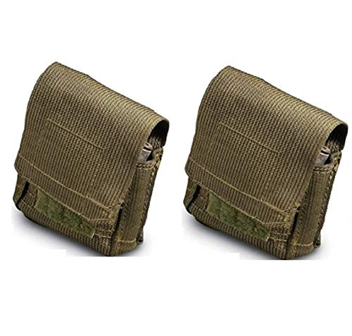 Ultimate Arms Gear 2 Pack of Unissued Surplus Zahal IDF Military 12 Elastic Shell Ammo Bullet M16/M4/AR15 5.56/.223 Pouch Carrier Holder Case with Belt Pants HOOK