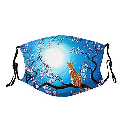Pañuelo de media cara con estampado floral para adultos, lavable reutilizable y fina para la boca, paño al aire libre, para fiestas, con trabillas ajustables para los oídos.