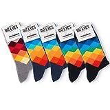 5 Paar Socken von Mat und Vic's für Sie & Ihn - Cotton classic Socks, gekämmte Baumwolle, ohne drückende Naht, Komfortb&, OEKO-TEX Standard 100, Diamond Jeans, 43-46
