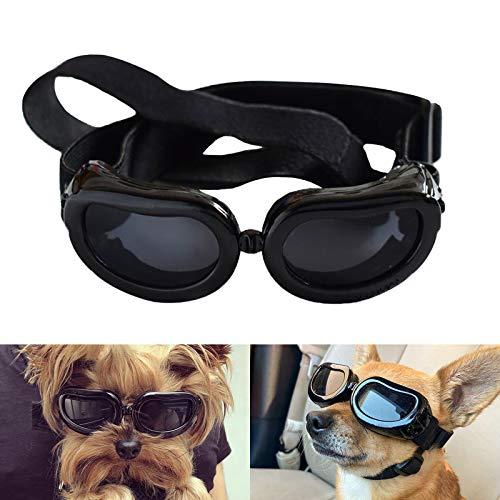 Namsan Gafas de Sol para Perros Gafas de Perro Mascotas Anti-UV Gafas Impermeables Prueba Viento de Gafas para Pequeños Perros&Gatos