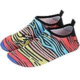 Calcetines de Buceo De las mujeres de los hombres de buceo Calcetines Deportes acuáticos Piscina al aire libre Surf Yoga zapatos de suela blanda Fácil Ajuste Calzado ( Color : Red , Size : 36-37 )