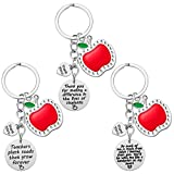 Teacher Gifts - Teacher Appreciation Gifts for Women, 3 PCS Keychain Gift for Teachers, Christmas Gifts Valentines Day Gifts for Teachers, Thank You Gift for Teacher