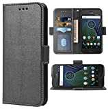 Phone Case for Moto G5 Plus Folio Flip Wallet Case,PU Leather Credit Card Holder Slots Full Body Protection Kickstand Protective Phone Cover for Motorola MotoG5+ 5th Gen G5+ XT1687 G5plus Black