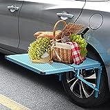 Mesa plegable para coche, SEAAN de aluminio, 2,75 kg, 28,3 x 22,4 pulgadas, carga máxima de 50 libros, apta para picnic, visitas autónomas