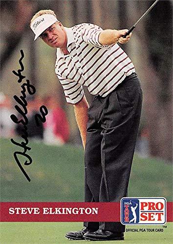 Steve Elkington autographed golf card (PGA, Houston Cougars) 1992 Pro Set #31 - Autographed Golf Equipment