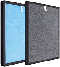 HSP001 True HEPA with Activated Carbon Replacement H13 Grade Filters, Compatible with Hathaspace HSP001 Smart True HEPA Air Purifier, 1 Set of 2 Pack