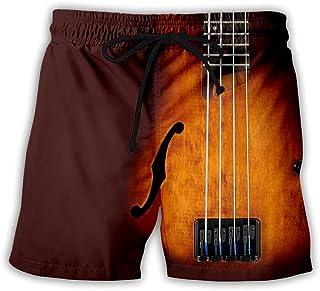 LKKOY Men's Gym Shorts Lightweight Jogging Shorts Mesh Tracksuit Bottoms Quick Dry Running Shorts Cool Rock Instrument Pat...